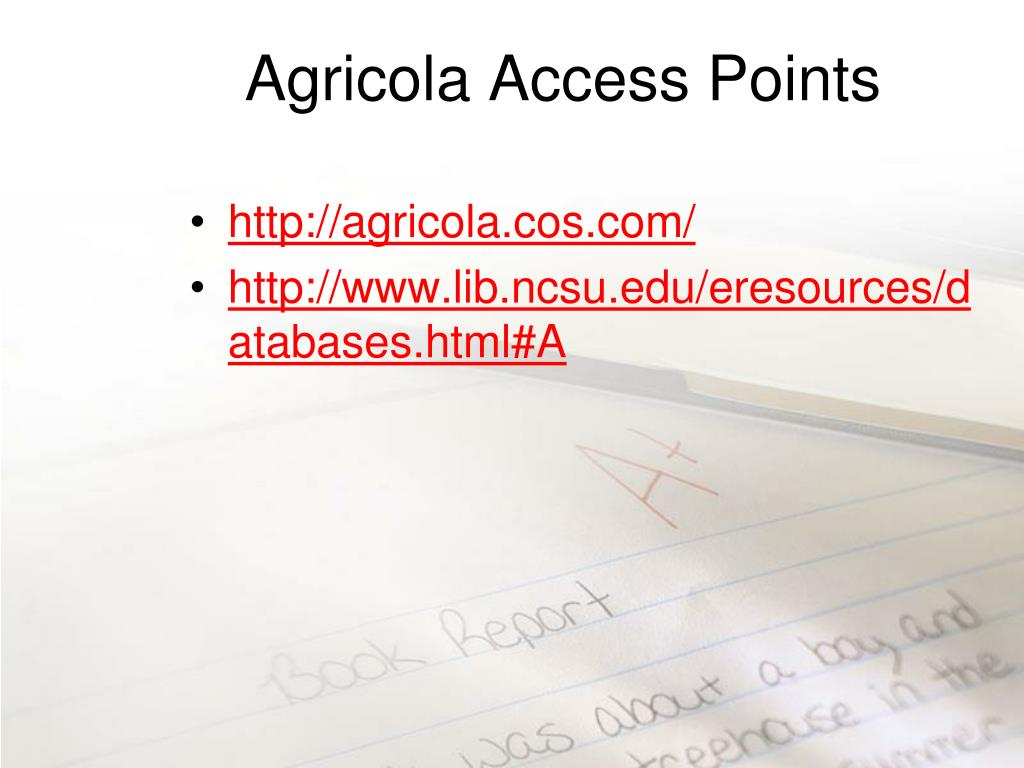 Agricola Access Points