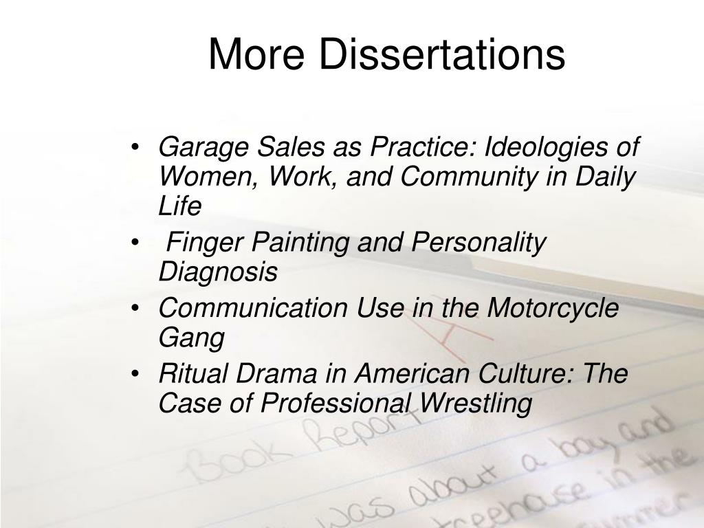 More Dissertations