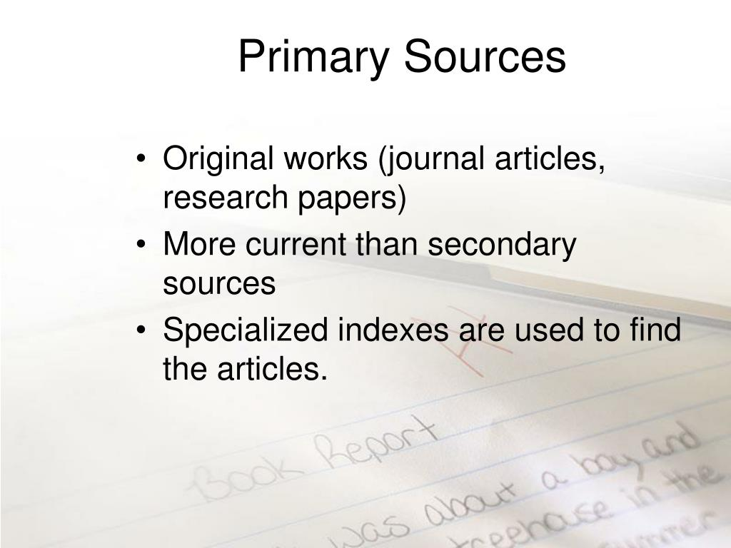 Primary Sources