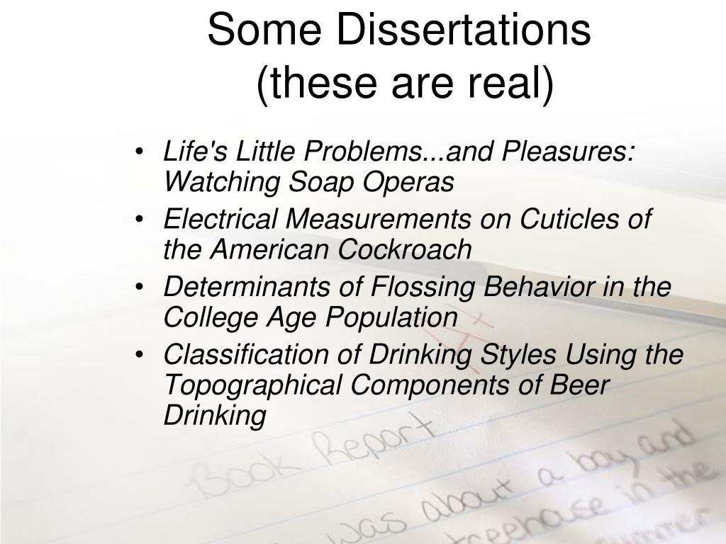 Some Dissertations
