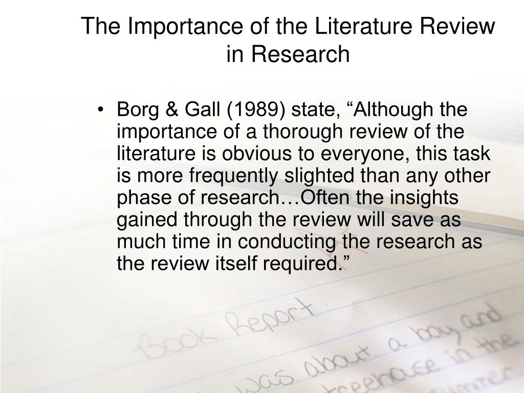 The Importance of the Literature Review in Research