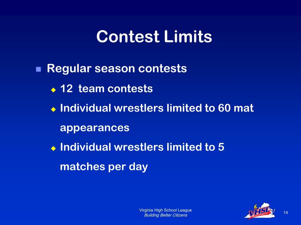 Contest Limits