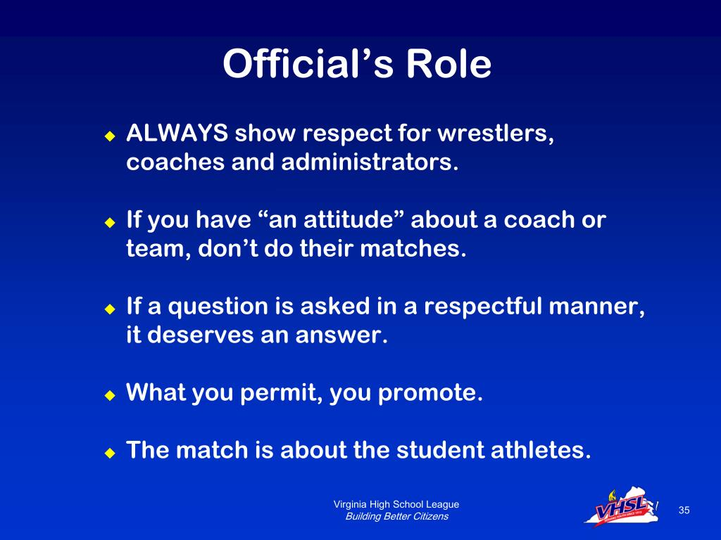 Official's Role
