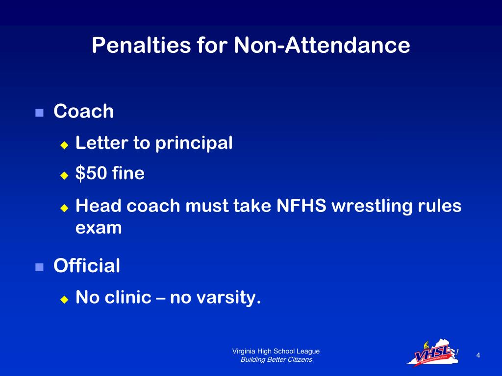 Penalties for Non-Attendance