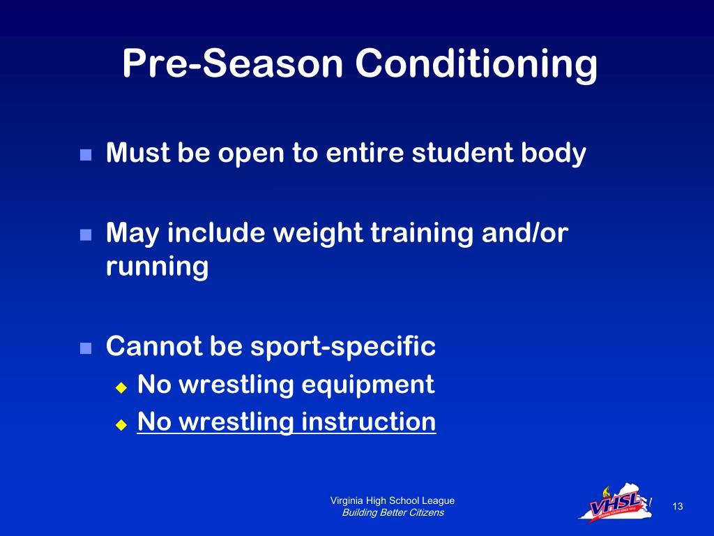 Pre-Season Conditioning