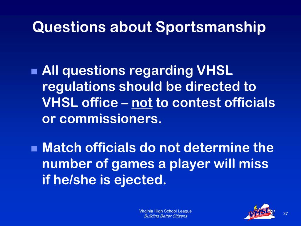 Questions about Sportsmanship