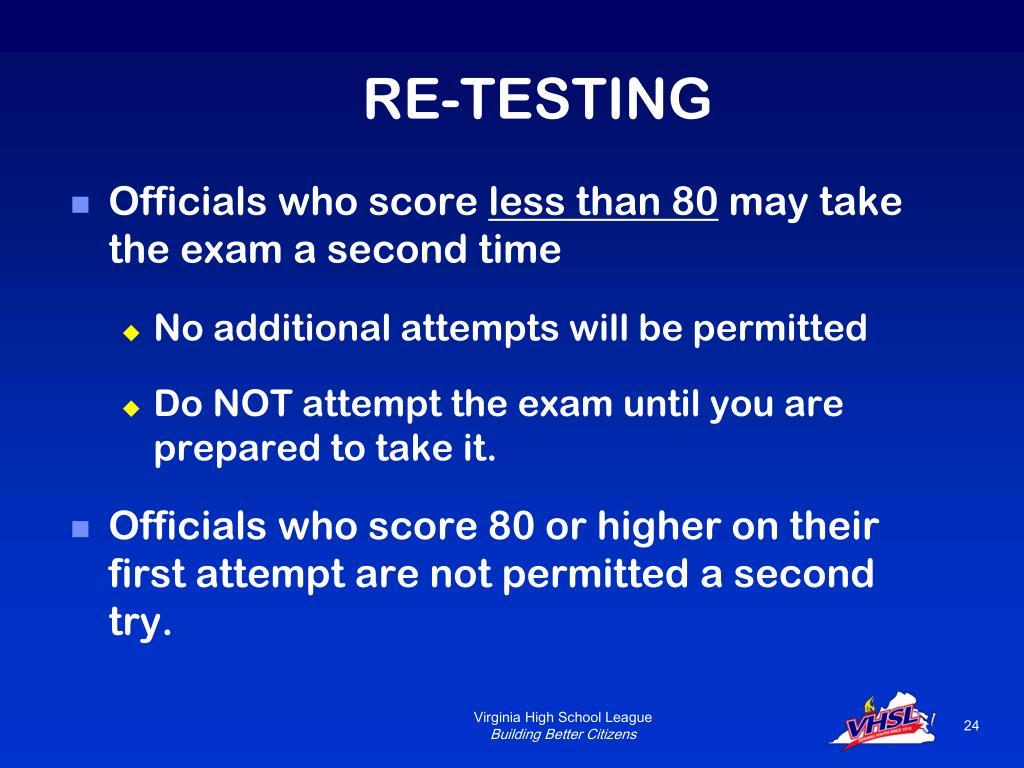 RE-TESTING
