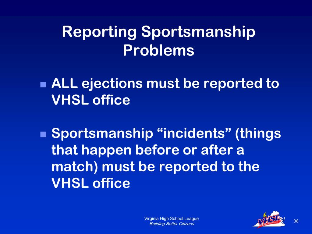 Reporting Sportsmanship Problems