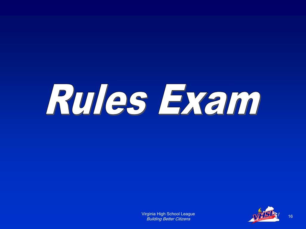 Rules Exam