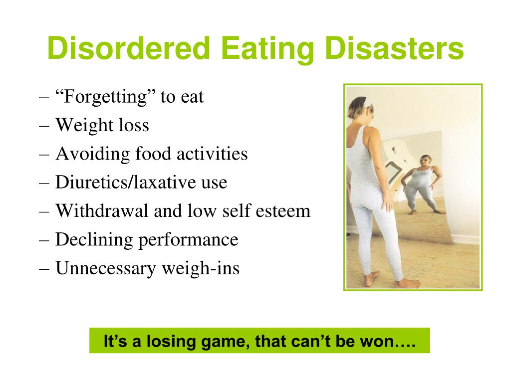 Disordered Eating Disasters