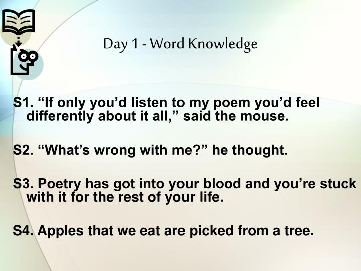 Day 1 word knowledge1