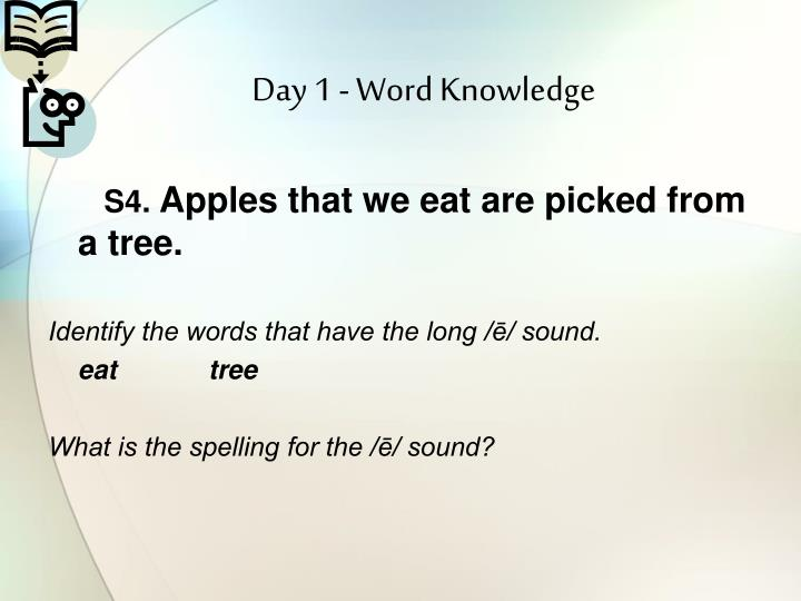 Day 1 - Word Knowledge
