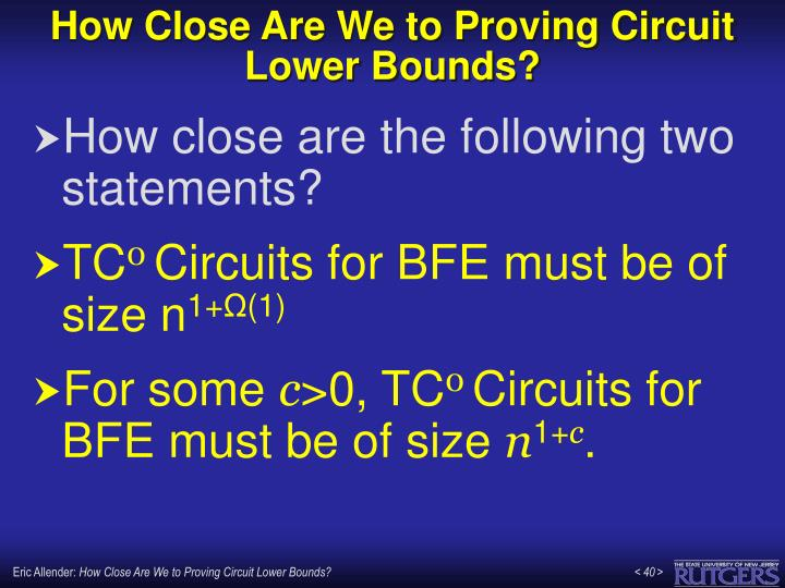 How Close Are We to Proving Circuit Lower Bounds?