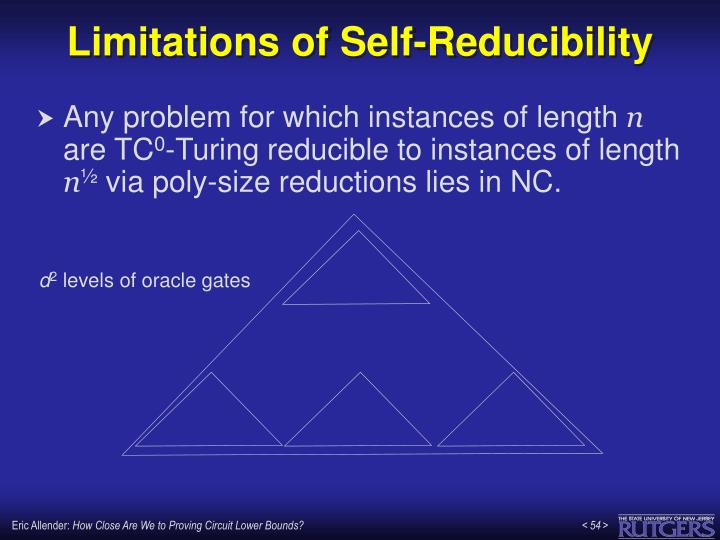 Limitations of Self-Reducibility