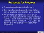 prospects for progress2