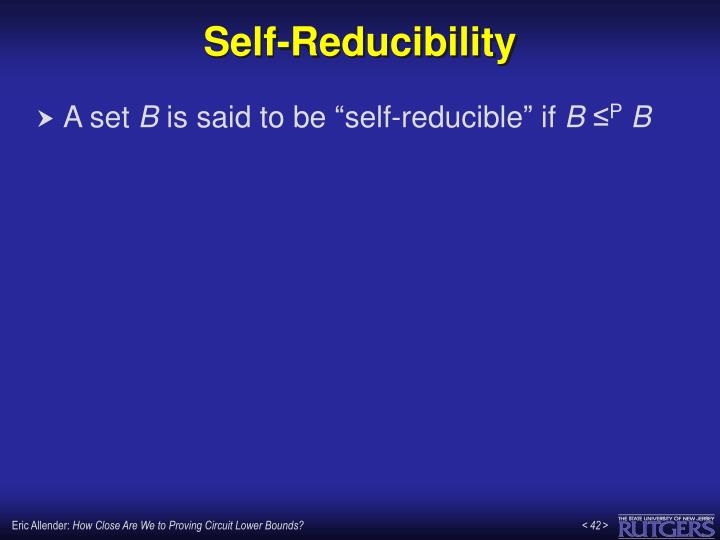 Self-Reducibility
