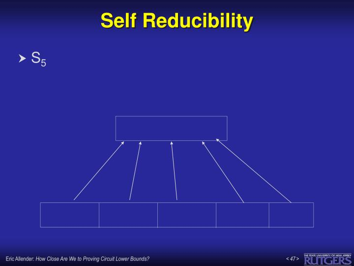 Self Reducibility