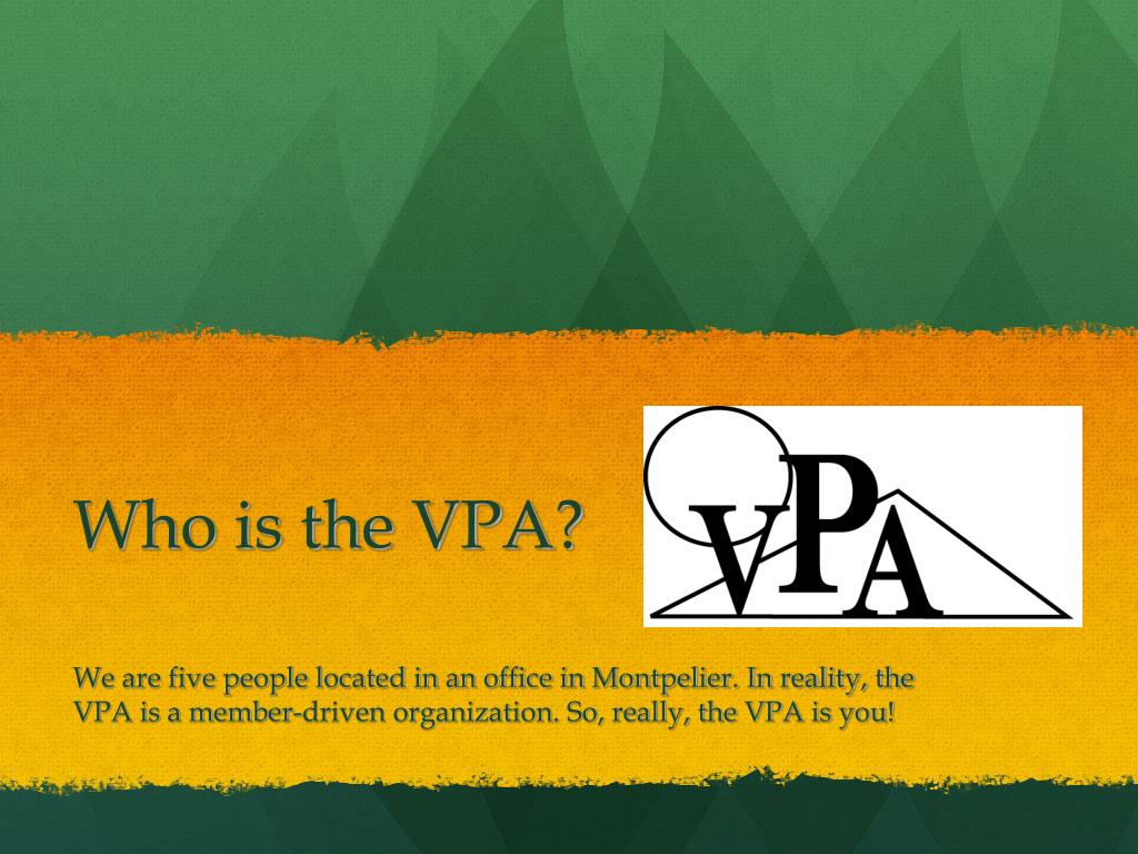 who is the vpa