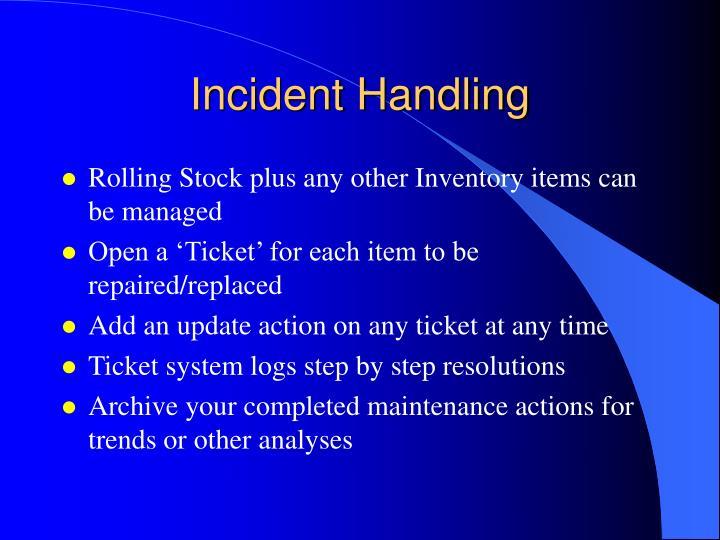 Incident Handling