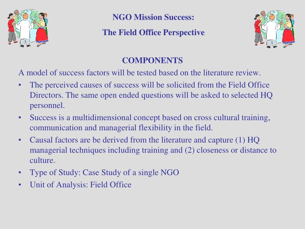 NGO Mission Success: