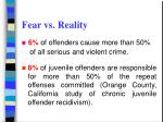 fear vs reality 6 of offenders cause more than 50 of all serious and violent crime