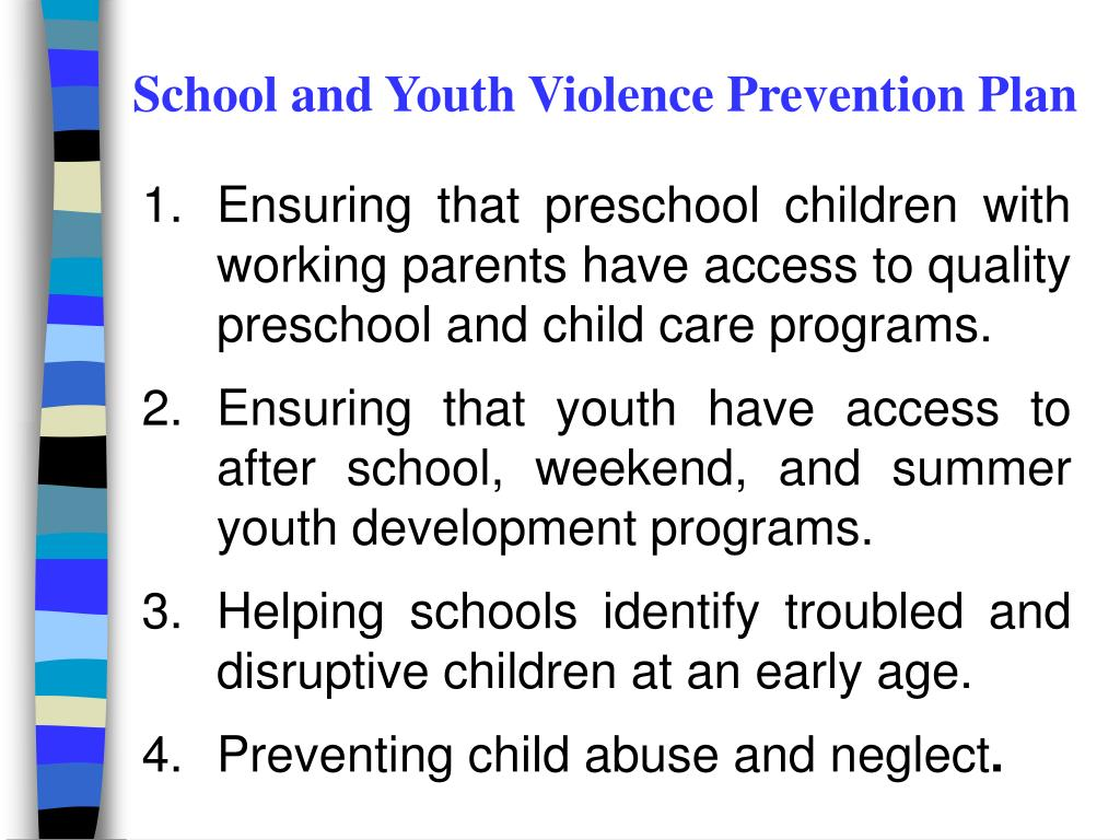 School and Youth Violence Prevention Plan