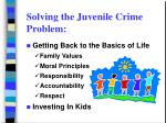 solving the juvenile crime problem