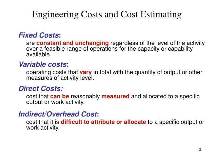 Engineering costs and cost estimating2