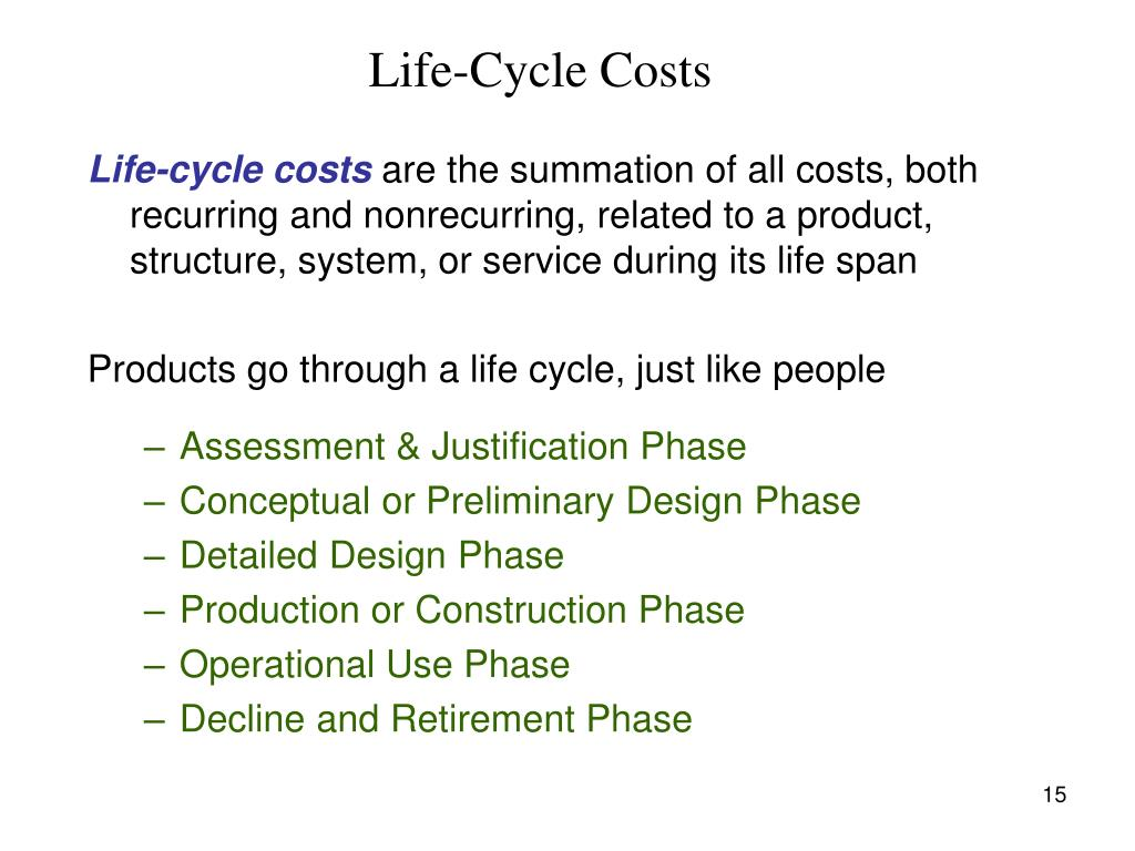 Life-Cycle Costs