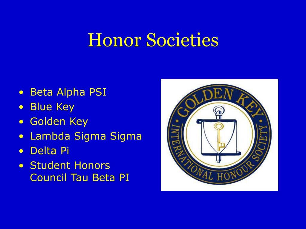 Honor Societies