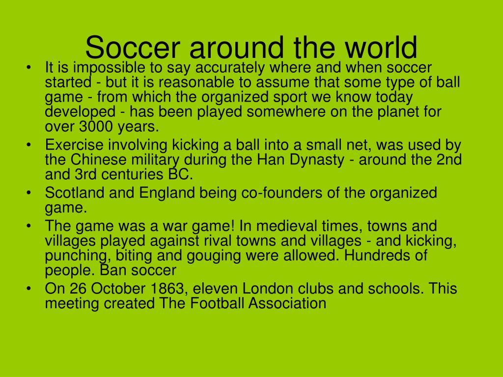 Soccer around the world