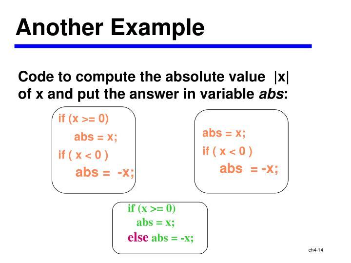 if (x >= 0)