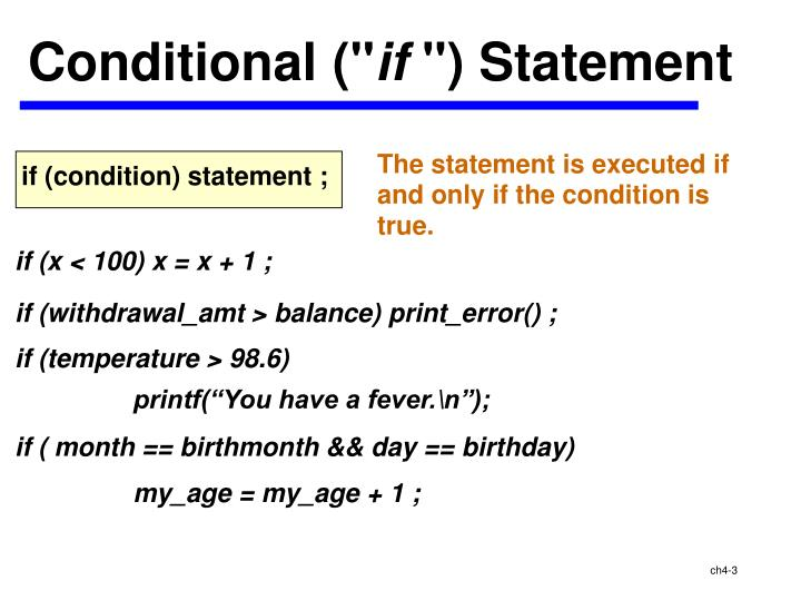 Conditional (""