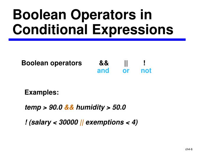 Boolean Operators in