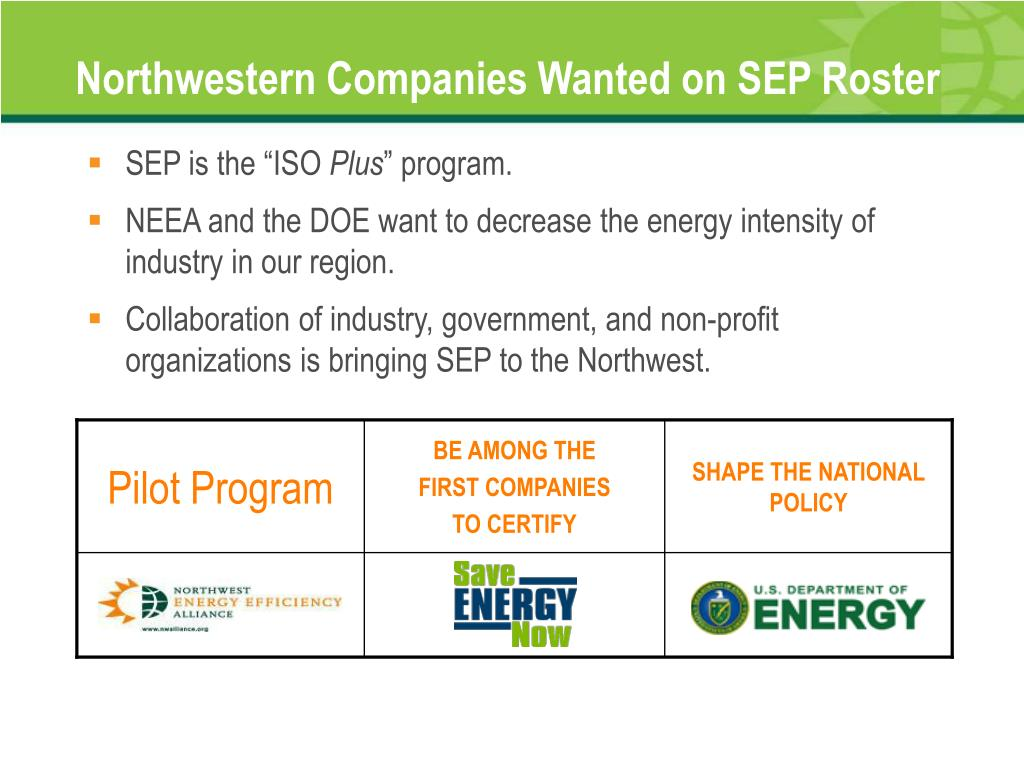 Northwestern Companies Wanted on SEP Roster
