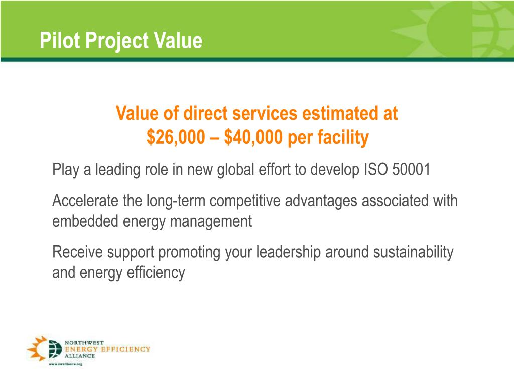 Pilot Project Value