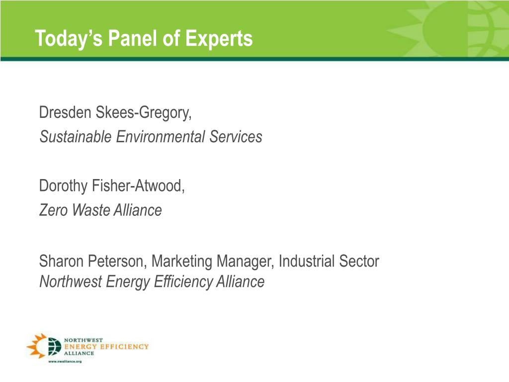 Today's Panel of Experts