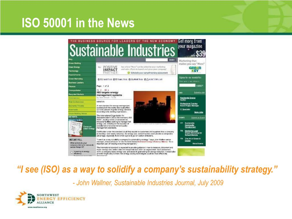 ISO 50001 in the News
