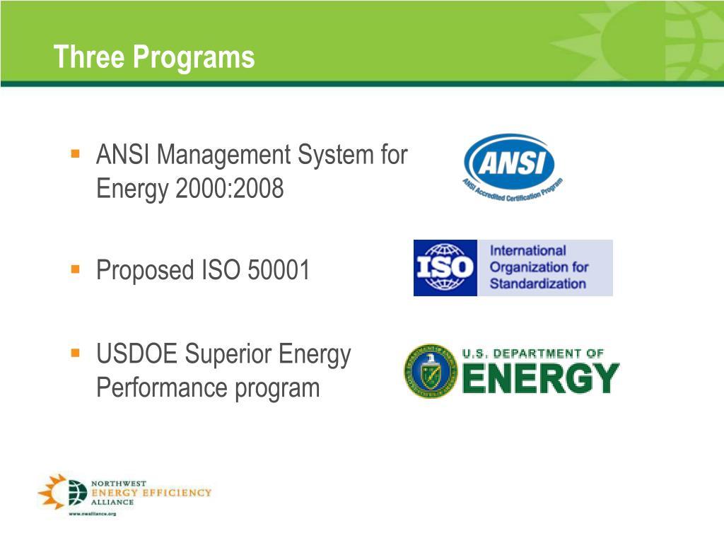Three Programs