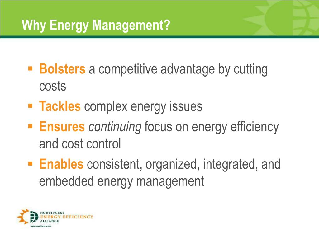 Why Energy Management?