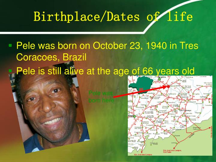 Birthplace dates of life