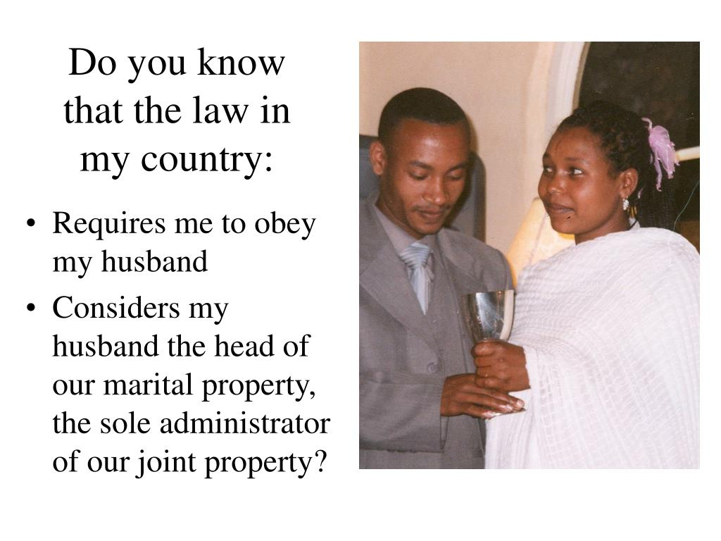 Do you know that the law in my country: