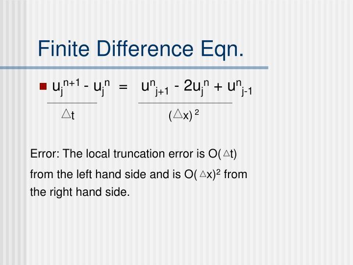 Finite Difference Eqn.