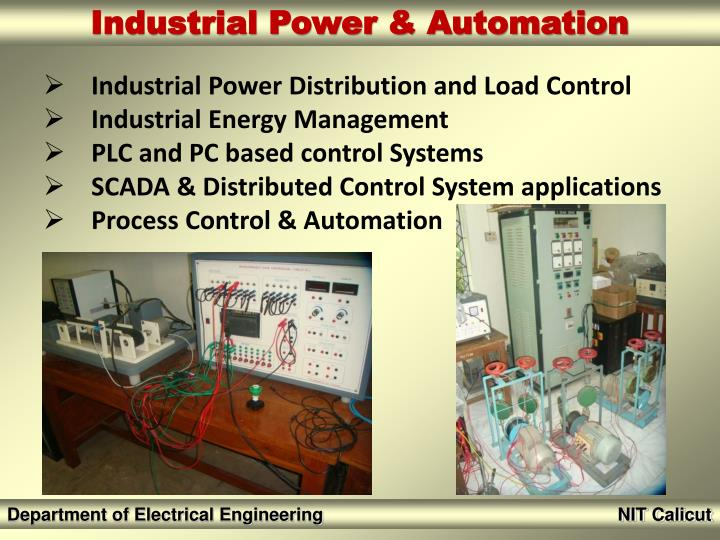 Industrial Power Distribution and Load Control