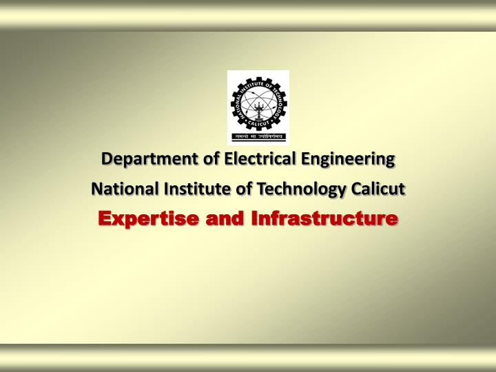 Department of Electrical Engineering