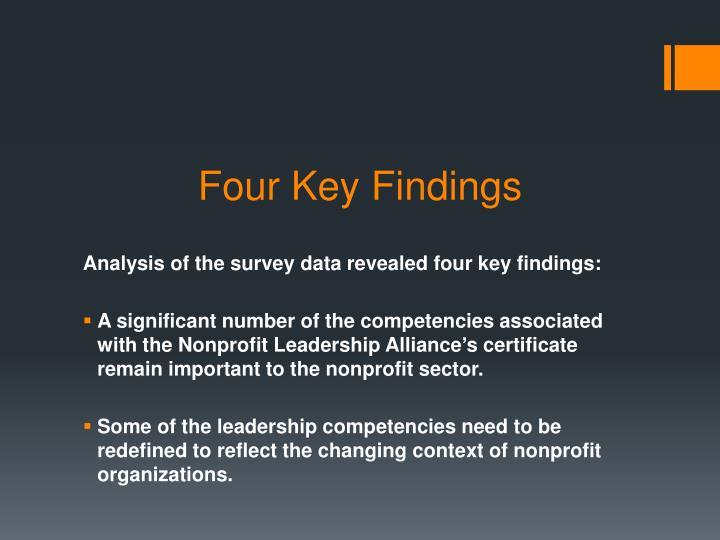 Four Key Findings