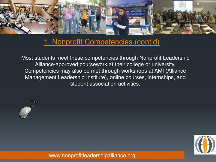 1. Nonprofit Competencies (cont'd)