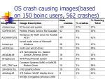 os crash causing images based on 150 boinc users 562 crashes