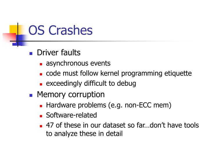 OS Crashes