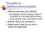 thoughts on collection anonymization